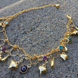 Gold ankle bracelet $25